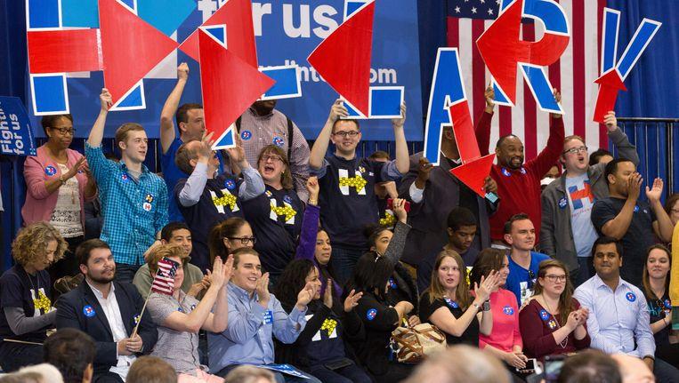 Supporters van Hillary Clinton Beeld epa