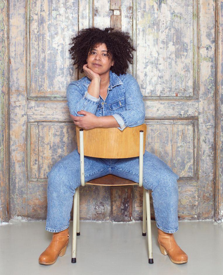 Rebecca van Unen in haar studio in Amsterdam.   Beeld Daniel Cohen. styling: helenaout.  haar & make-up: Robert Stouthamer.  Met dank aan spicepr