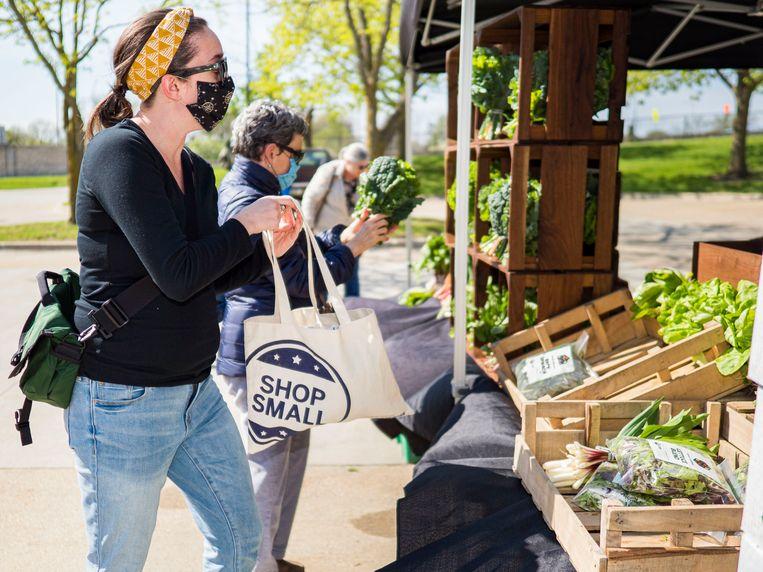 'Lokaal en biologisch voedsel is een luxeproduct voor rijke westerlingen.' Beeld Photo News