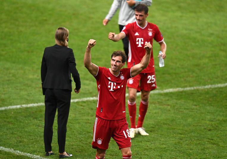 Leon Goretzka balt de vuisten. Zijn team heeft de finale van de Champions League bereikt. Beeld Photo News