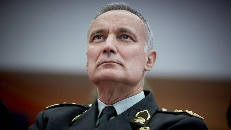 Commandant der Strijdkrachten Tom Middendorp vanmiddag in Den Haag Beeld anp