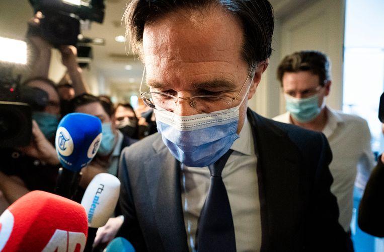 Demissionair premier Mark Rutte. Beeld Freek van den Bergh / de Volkskrant