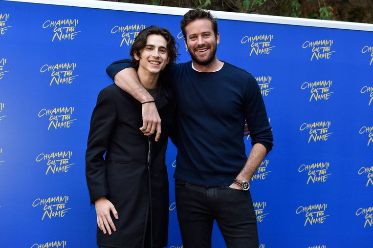 Photocall of 'Call Me By Your Name' - Rome. Armie Hammer Thimote Chalamet attending 'Call Me By Your Name' photocall held in Rome, Italy URN:34626404 + PHOTO NEWS / PICTURES NOT INCLUDED IN THE CONTRACTS  ! only BELGIUM ! Beeld Photo News