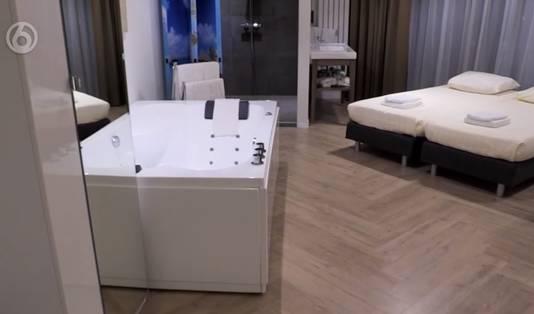 De kamer waar de familie Rijkens een mid-week mag verblijven