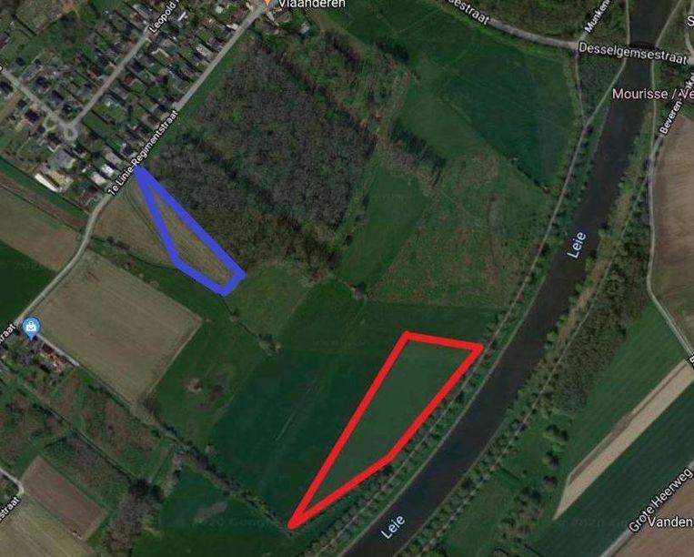 Begin 2019 werd een eerste uitbreiding aangeplant, te zien op onderstaand plannetje als blauwe 'driehoek'. In de komende weken volgt de tweede uitbreiding, de rode 'driehoek'.