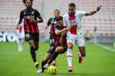 Kylian Mbappé in actie tegen OGC Nice.
