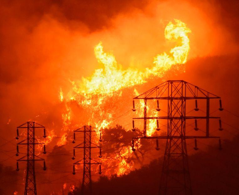 Bosbranden in Santa Barbara in 2017. Beeld AP