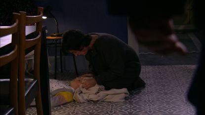 Sandrientje werd neergeschoten in 'Thuis', en zo ging dat eraan toe op de set