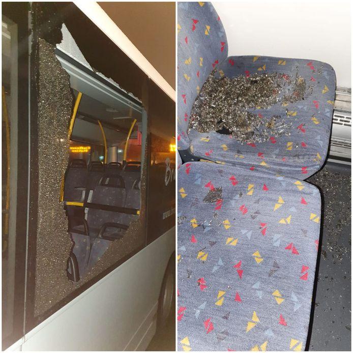 De schade aan de bussen is aanzienlijk.