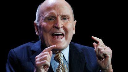 """""""Manager van de eeuw"""", Jack Welch, overleden op 84-jarige leeftijd"""