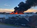 Brand bij Tuf Recycling Dongen