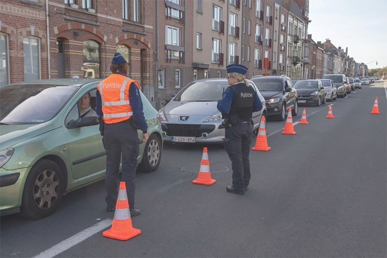 Een alcoholcontrole in Gent.