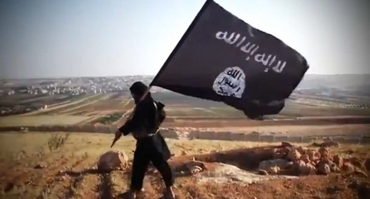 Een aanhanger van Islamitische Staat. Beeld ANP