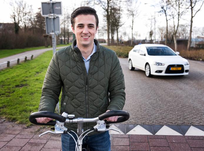 Raadslid Vincent Bos heeft een fietsplan ingediend met verbeterpunten in Oudewater.