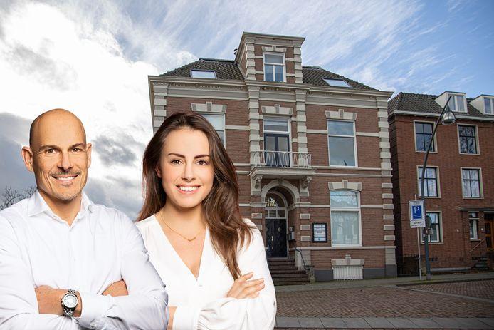 Jeroen de Rooij en Anna Braakman van MIC aan de Eekwal in Zwolle.