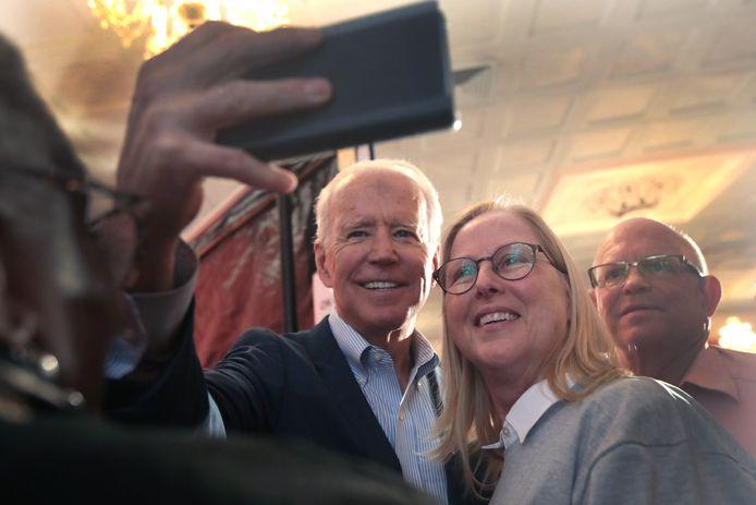 Joe Biden probeert alvast nog zo veel mogelijk kiezers te overtuigen.