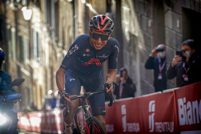 Bernal finishte knap derde in de Strade Bianche.
