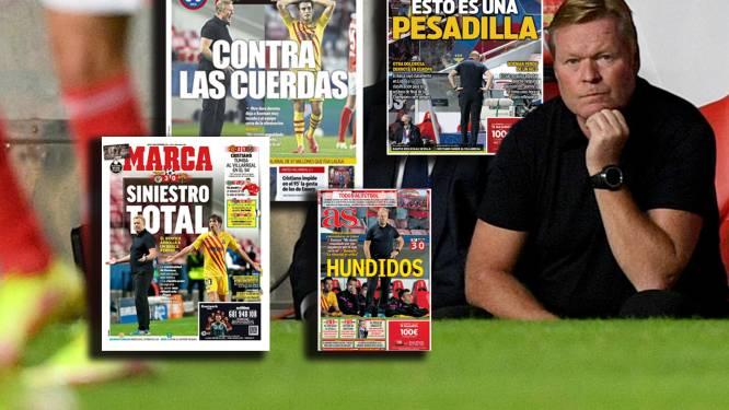 Spaanse media keihard in oordeel over Koeman en Barcelona: tegen de touwen, total loss en een nachtmerrie