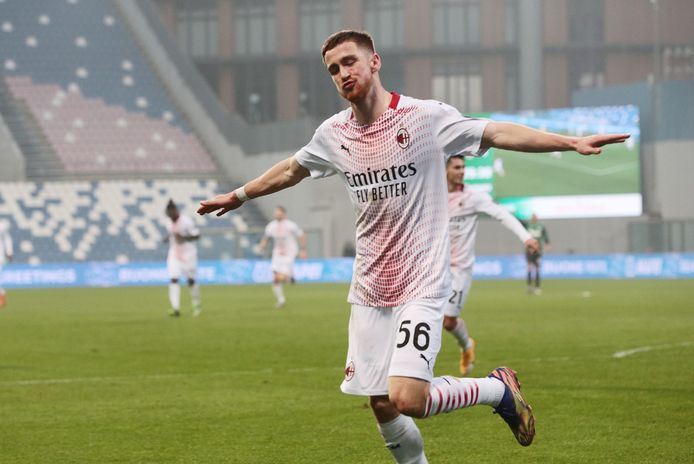Alexis Saelemaekers, buteur et toujours leader du championnat avec l'AC Milan.