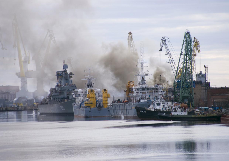 In de nabijgelegen stad Severodvinsk werden stralingswaarden die bijna twintig keer zo hoog als anders waren gemeten. Beeld REUTERS