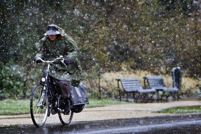 De eerste (natte)sneeuw viel dit jaar in Limburg. Foto ter illustratie.