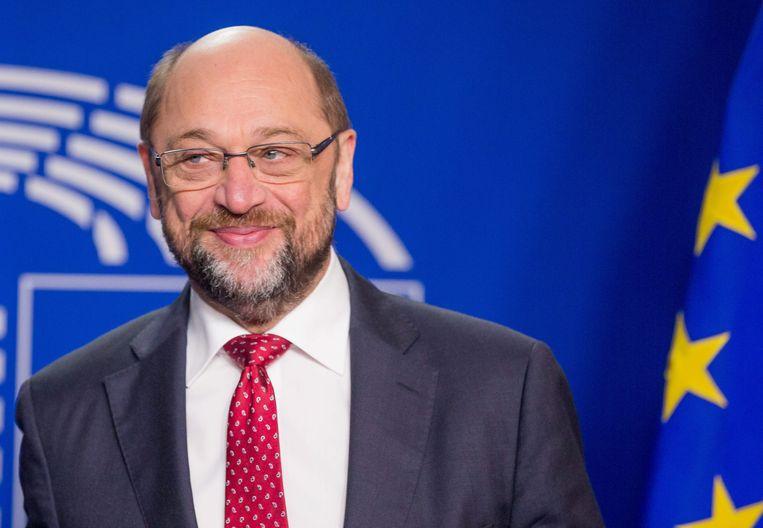 Martin Schulz, voorzitter van het Europees Parlement. Beeld EPA