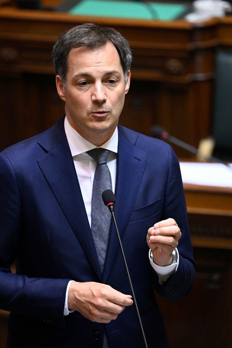 Federaal minister van Financiën Alexander De Croo (Open Vld) moest vol aan de bak om de economie overeind te houden. Beeld Photo News