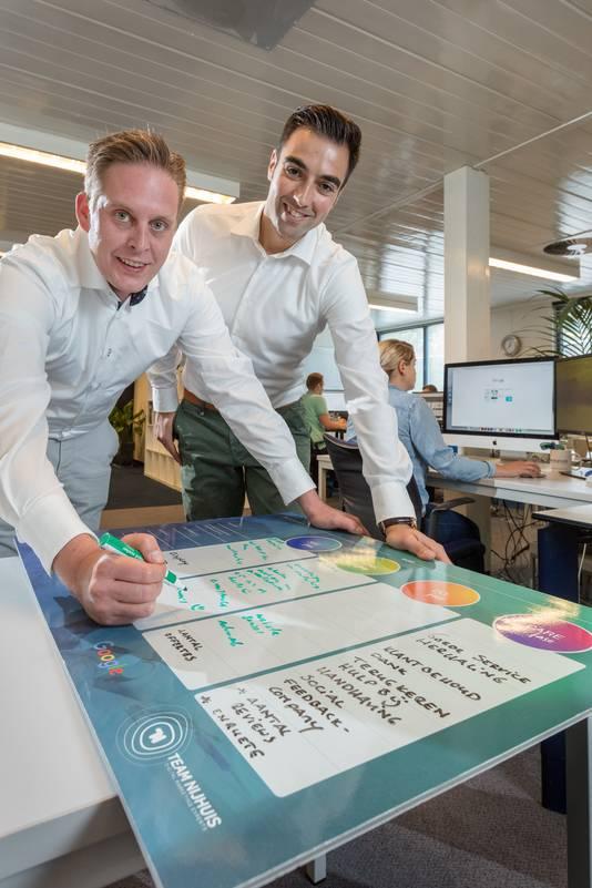 Stefano Golia en Gerben Lievers, compagnons bij Team Nijhuis.