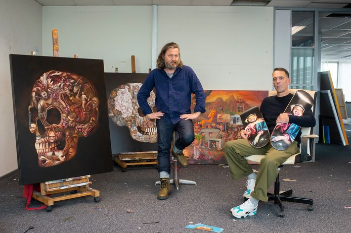 Wouter Steel en Eef Franckx stellen hun werken tentoon tijdens de expo Symbiotic.