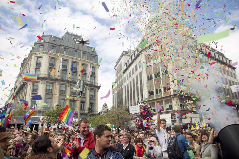 Belgian Pride vorig jaar. Beeld BELGA