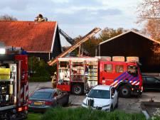 Schoorsteenbrand slaat uit naar dak van woning in dorpje Driewegen
