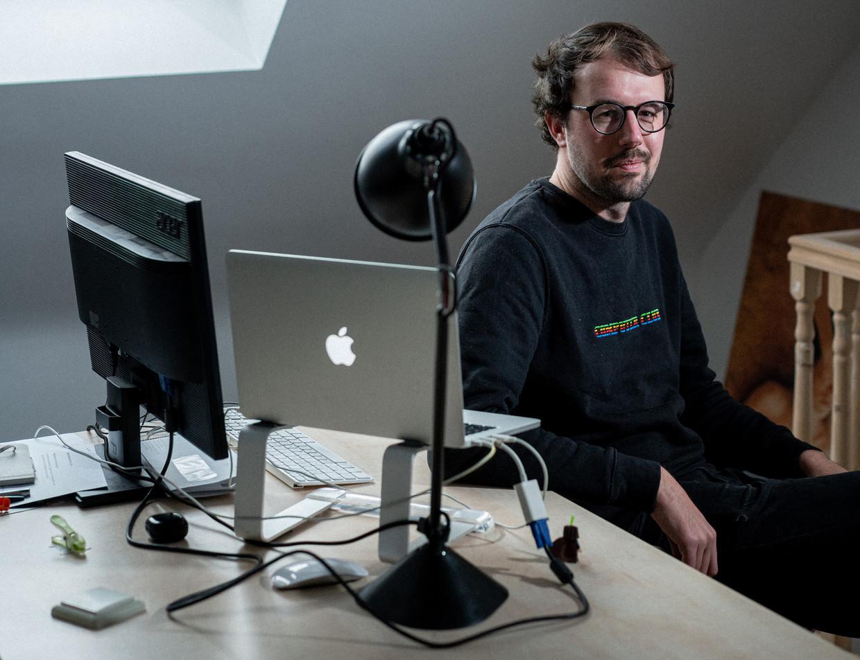 Thomas Smolders van 'Computer Club'. Beeld Wouter Van Vooren