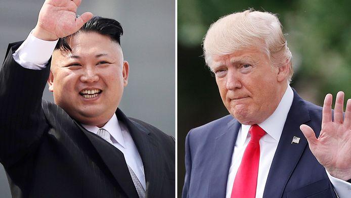 Kim Jong-Un et Donald Trump.