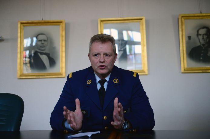 Korpschef Peter Vanhoyland van PZ Voer en Dijle