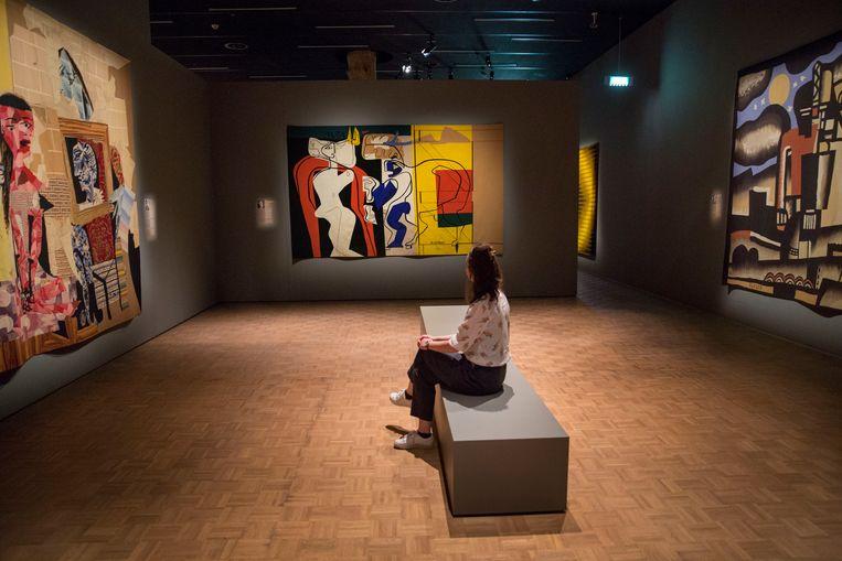 Links Picasso, midden Le Corbusier, rechts Léger. Beeld Arie Kievit
