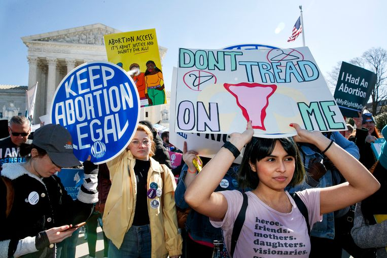 Demonstranten in Washington. Beeld AP