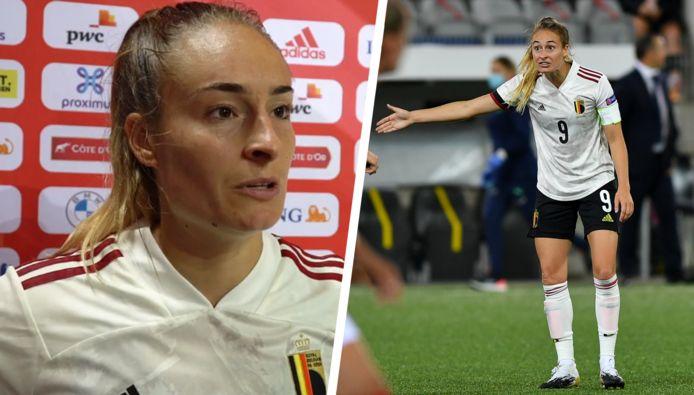 Tessa Wullaert ging gisteravond met de Red Flames onderuit tegen Zwitserland.