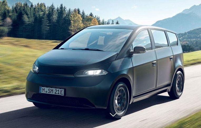 Mijn toekomstige zonne-auto, de Sion van Sono Motors, die dankzij geïntegreerde zonnepanelen toekan met een kleine batterij. Begin 2023 moet hij voor mijn deur staan. Beeld Sono Motors