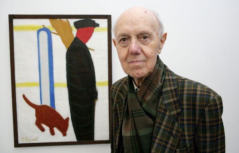 Roger Raveel in 2006.  Beeld BELGA