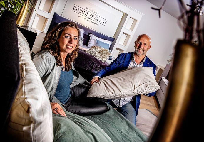 Bianca en Willem Arends van Eurobed Maastricht.