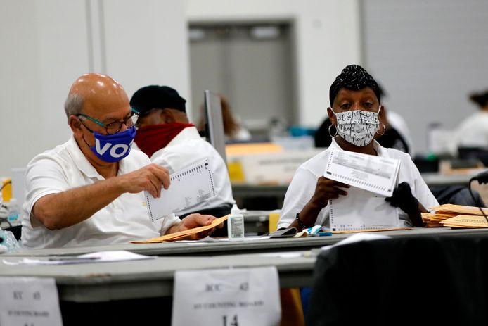 In Detroit (Michigan) worden vandaag nog druk stemmen geteld.