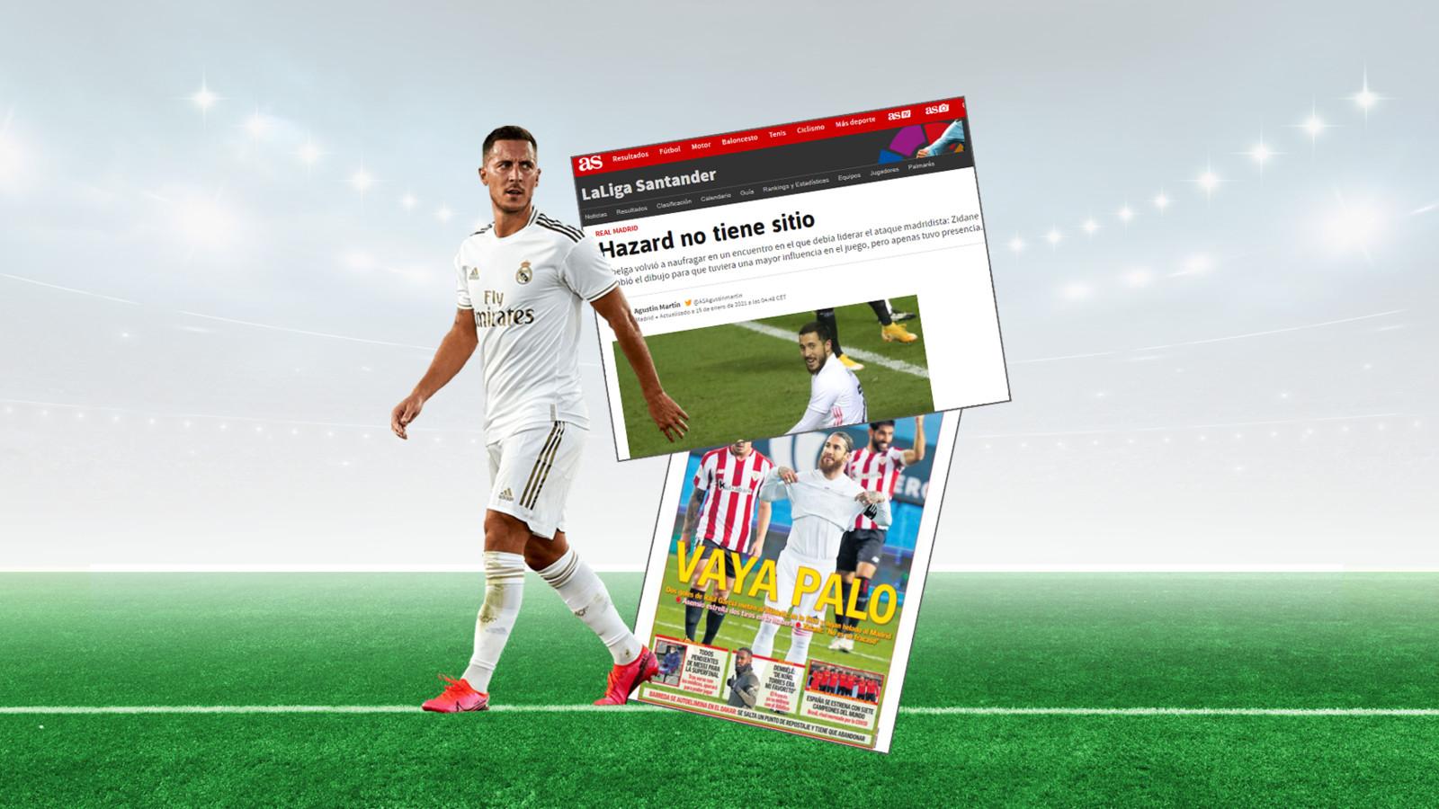De Spaanse pers is opnieuw snoeihard voor Eden Hazard.