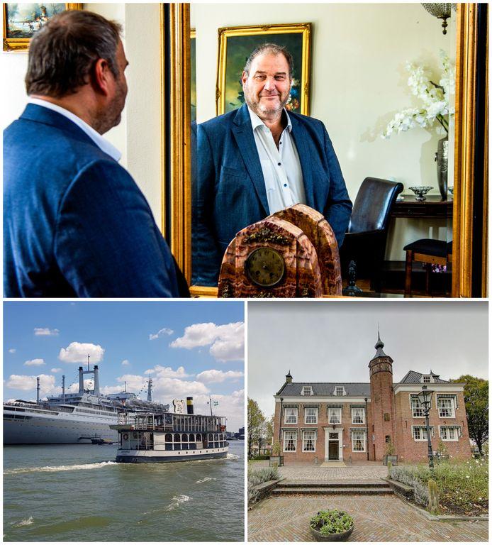 Johan van der Linde van Partyservice NL is zelf tot nu toe steeds op de achtergrond gebleven, maar met zijn bedrijf is hij onder meer eigenaar van de Beren Boot (links) en kasteeltje annex trouwlocatie De Oliphant.