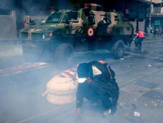 Chaos in La Paz: Boliviaanse oproerpolitie drijft begrafenisstoet uit elkaar met traangas