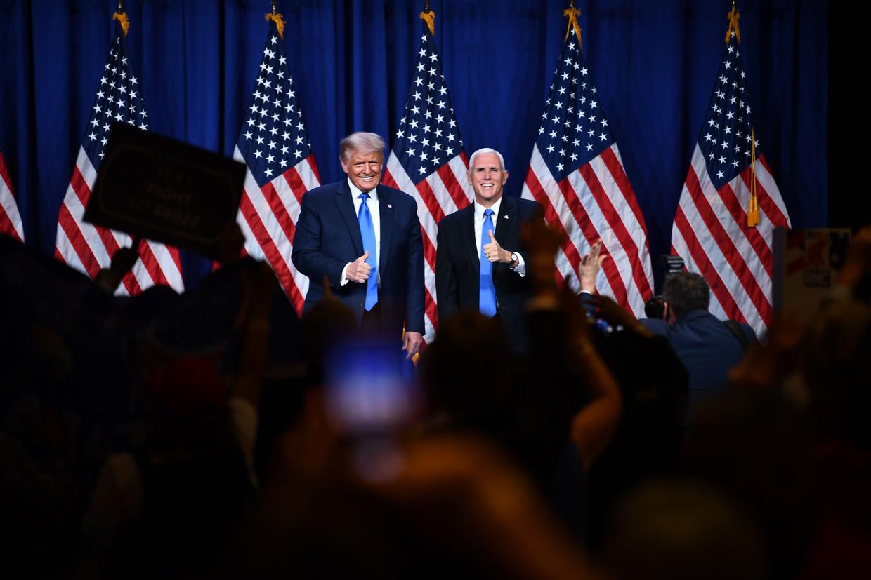 President Donald Trump en vicepresident Mike Pence op de Republikeinse Conventie.