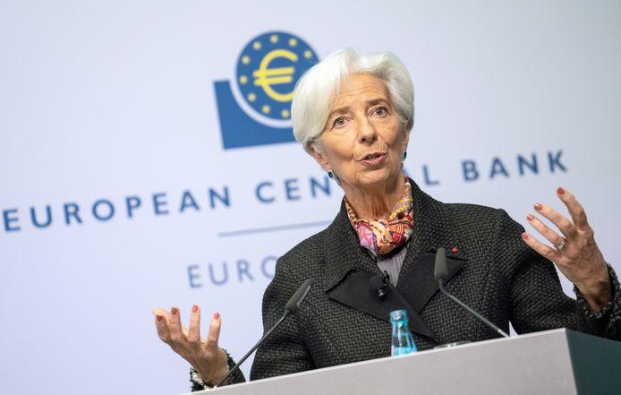 Christine Lagarde, voorzitter van de ECB.