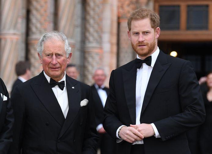 Le prince Harry et son père le prince Charles.