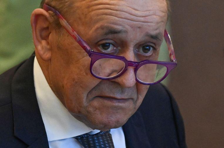 De Franse minister van Buitenlandse Zaken Jean-Yves Le Drian. Beeld AFP