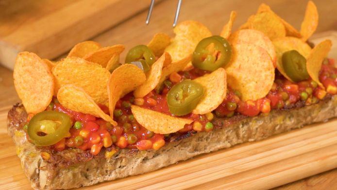 Mexicaanse meatloaf met nacho's