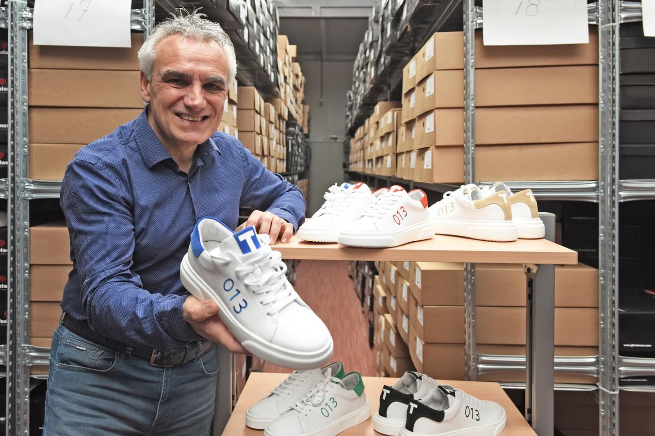 Gerard Arink ontwikkelde speciaal voor Tilburg de '013-sneaker'.